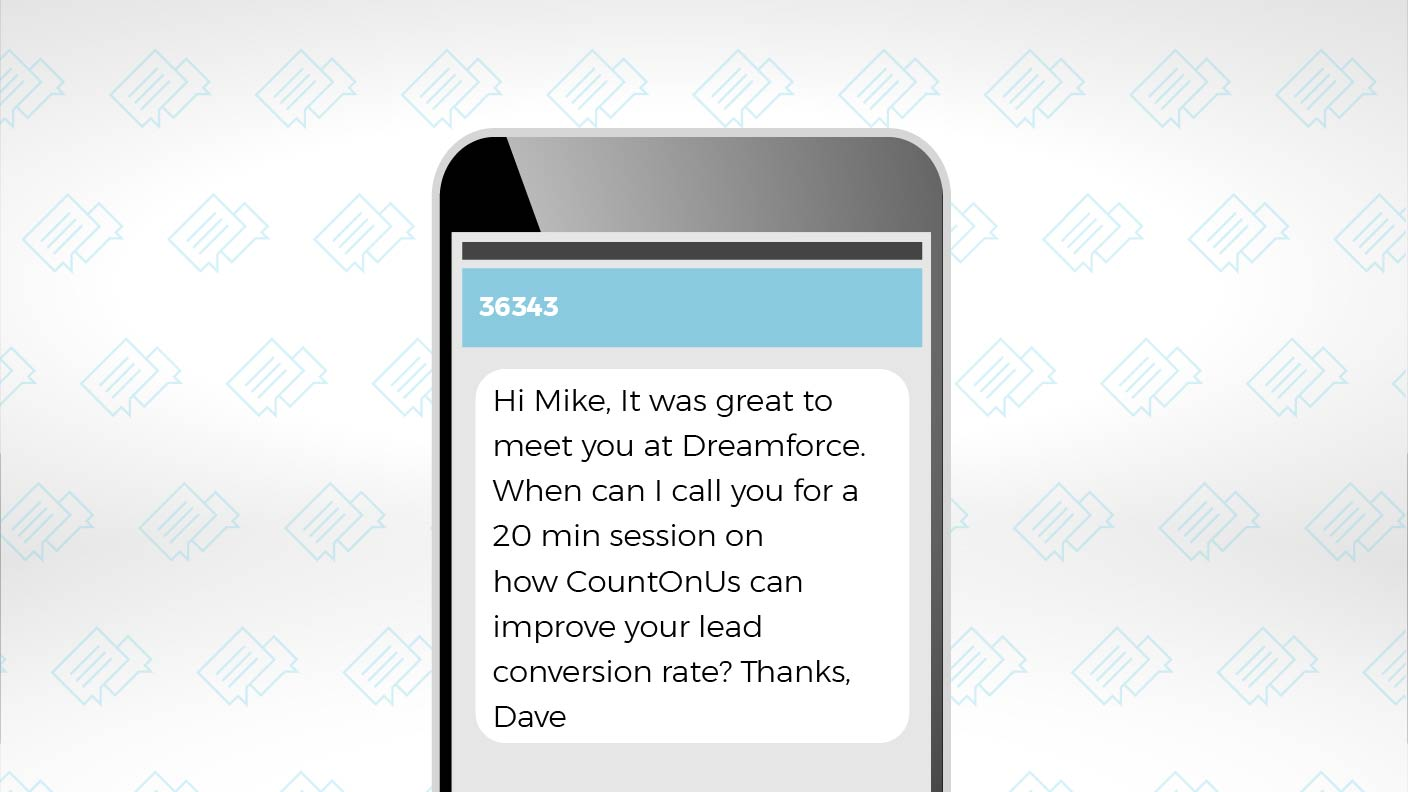 Use SMS Texting to Optimize Your Dreamforce Follow-up 2