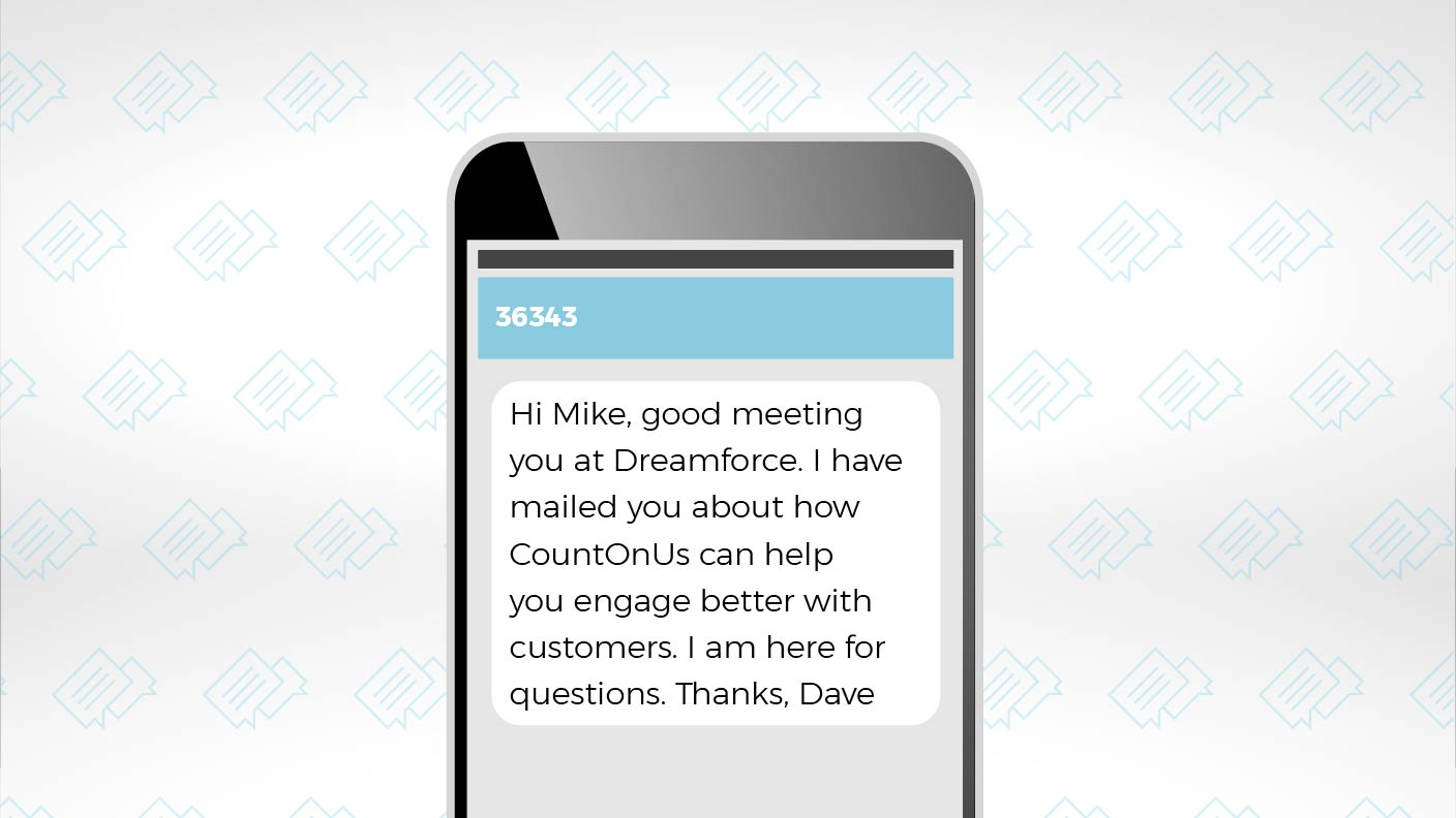 Use SMS Texting to Optimize Your Dreamforce Follow-up 3